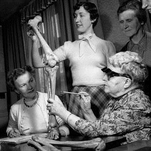dr bess mensendieck teaches women about the bones of the lower limbs
