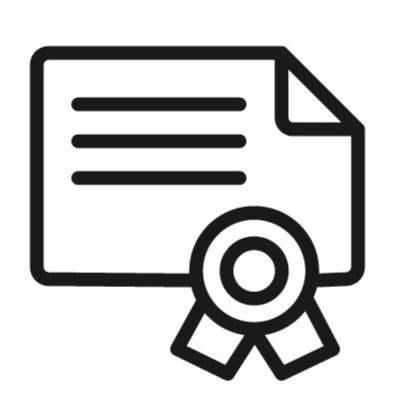 Icon of a certificate representing a credential.
