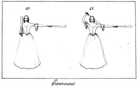 An image of a lady club swinging taken from Chas Rogers-Harrisons medical text on orthopedics.