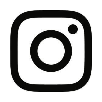 Instagram icon in black.